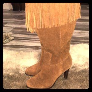 Matisse camel suede fringe boots
